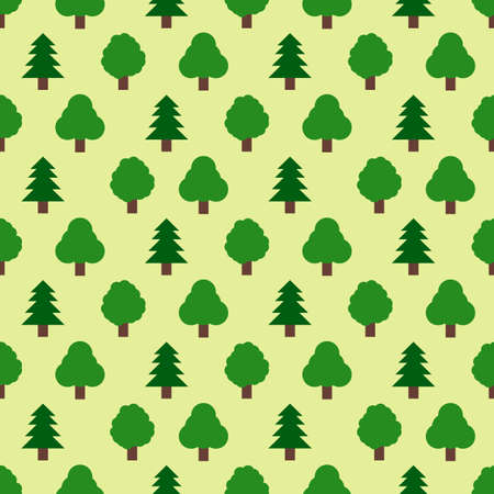 forestry: Seamless pattern of forestry tree. Vector illustration Illustration
