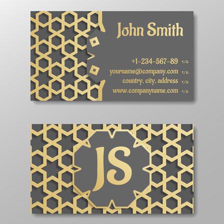 Business card template gold arabic traditional pattern vector business card template gold arabic traditional pattern vector illustration stock vector 59986832 colourmoves