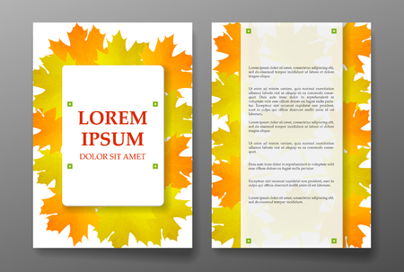 foliages: Template brochure with foliages seasons colors. Vector illustration