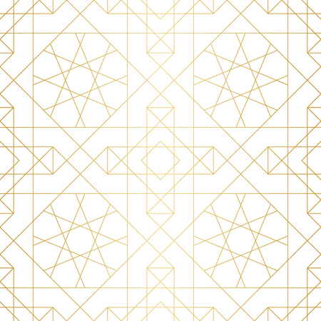 metal pattern: Golden abstract geometric pattern with rhombus, triangles and squares. Vector illustration