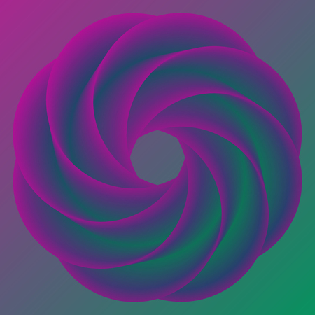 Abstract donut colorful rainbow background. Vector illustration
