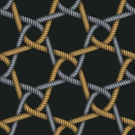 Modello di cordoncini intrecciati in tessuto. Archivio Fotografico - 86925708