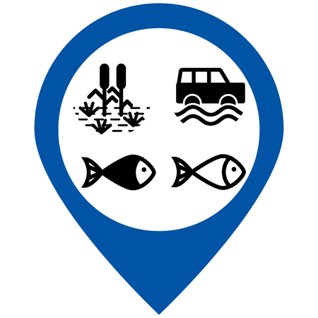 Water nature icons set Illustration