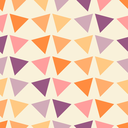 Vector illustration seamless geometric pattern with triangles.