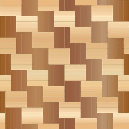 Wood floor parquet seamless pattern. Vector illustration Ilustração