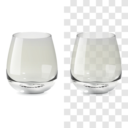 Vector realistic transparent and isolated whiskey tumbler glass. Alcohol drink glass icon illustration Standard-Bild - 117746208