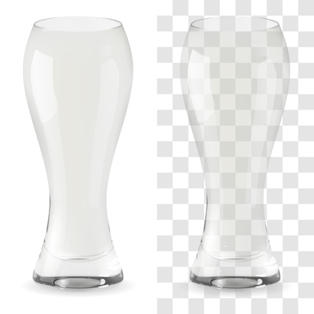 Vector realistic transparent beer glass. Alcohol drink glass icon illustration Archivio Fotografico - 117746217