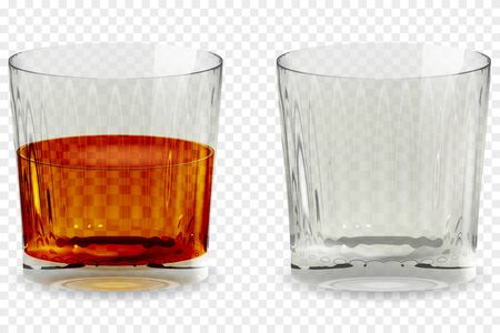 Whiskey snifter glass transparent icon vector illustration Archivio Fotografico - 128874735