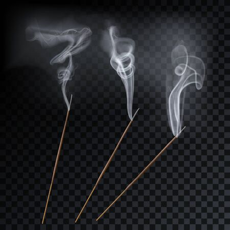Arôme fumée roseau bâtons illustration vectorielle d'aromathérapie.