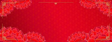 Happy Chinese New Year, red template background