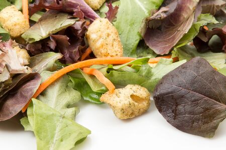 Tossed salad greens with arugula and carrots