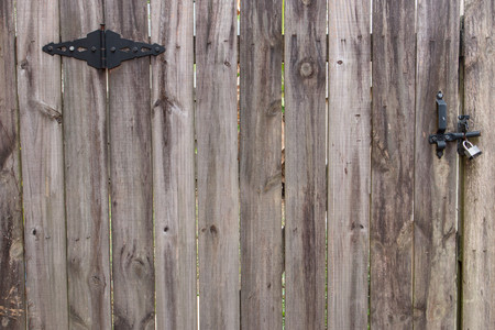 Fence Gate With Hinge And Lock Stock Photo Picture And Royalty