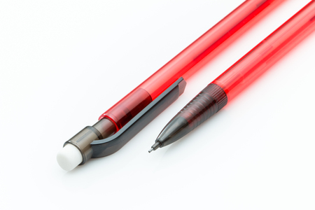 Mechanical pencil in red with eraser
