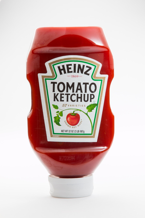 Pensacola, FL - June 4, 2017: Heinz Tomato ketchup is one of the worlds most popular brands.