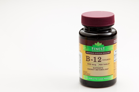 Pensacola, FL - August 14, 2016: B-12  is a dietary supplement that is taken for better energy and metabolic function. Editorial