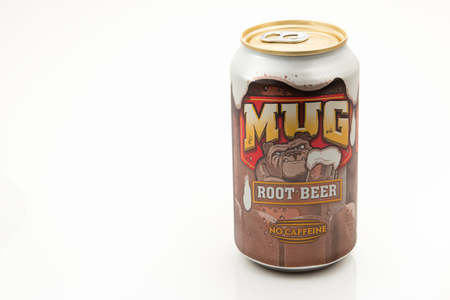 PENSACOLA, FL - August 17, 2016: Mug Root Beer is made by New Century Beverage Company. Editorial