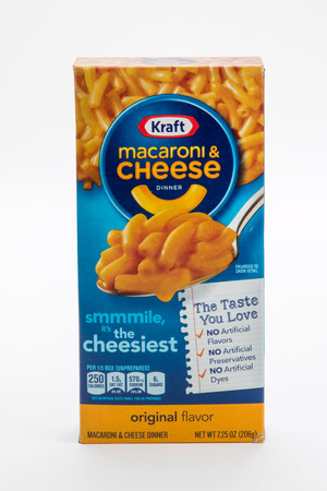Pensacola, FL - June 4, 2017: Kraft macaroni and cheese dinner is a classic side dish.