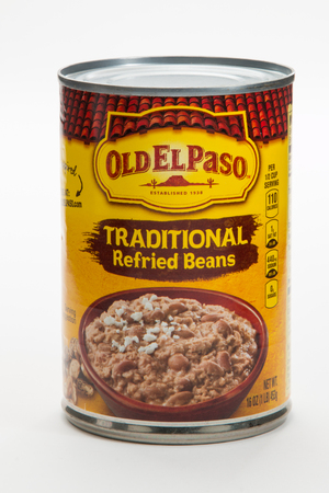 Pensacola, FL - June 4, 2017: Old El Paso ferried beans are a popular and healthy side dish