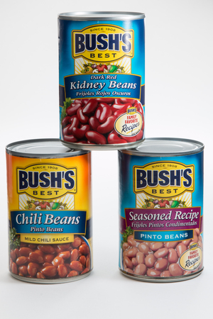 Pensacola, FL - June 4, 2017: Bushs Best beans are available in many varieties.