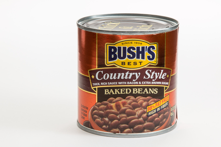 Pensacola, FL - June 4, 2017: Bushs Best country style baked beans. Editorial