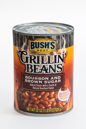 Pensacola, FL - June 4, 2017: Bushs Grillin Beans in Bourbon and Brown sugar flavor.