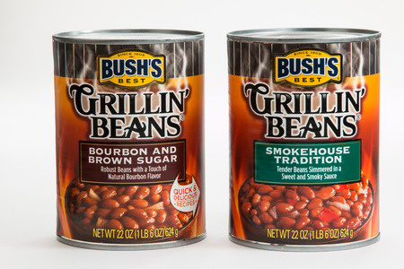 Pensacola, FL - June 4, 2017: Bushs Grillin Beans in two flavors are a popular side dish.