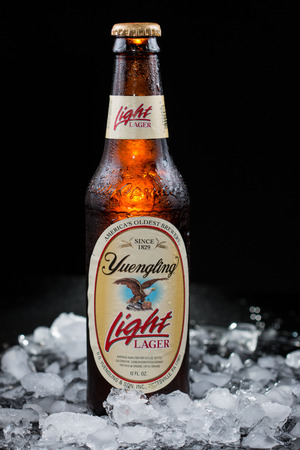 Pensacola, FL - August 12, 2015: Yuengling Light beer from Americas oldest brewery, Yuengling. Editorial