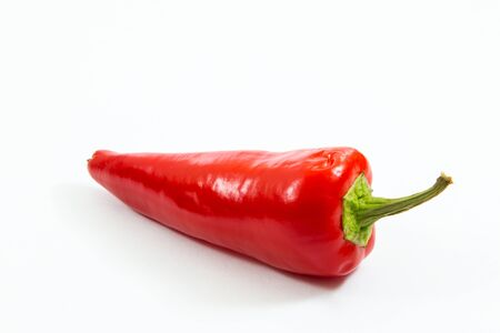 Red chili pepper isolated on white background.