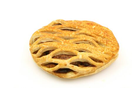 meat pie: fresh meat pie on a white background  Stock Photo