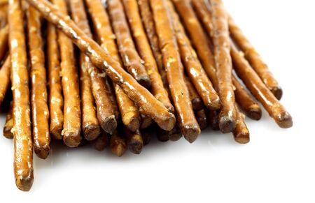 pretzels: salted pretzels on a white background