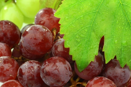 background of red and white grapes