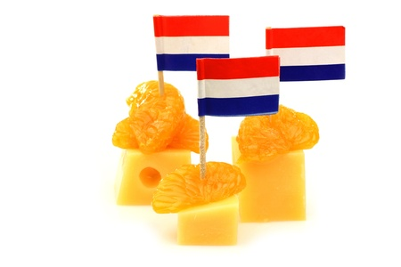 Dutch cheese snacks on a white background  photo
