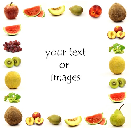 Fruit border with room for your text or images  photo
