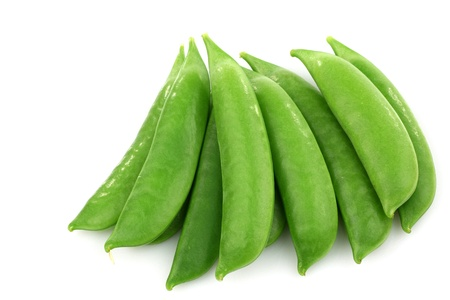 bunch of sugar snaps on a white background  photo