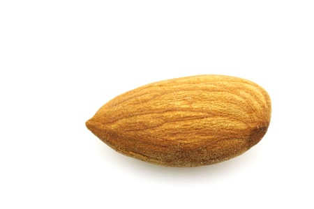 almond nut on a white background  版權商用圖片
