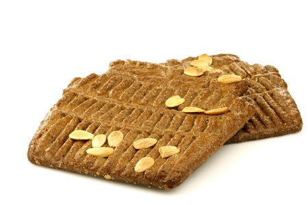 speculaas: Speculaas  traditional pastry from Holland  on a white background  Stock Photo