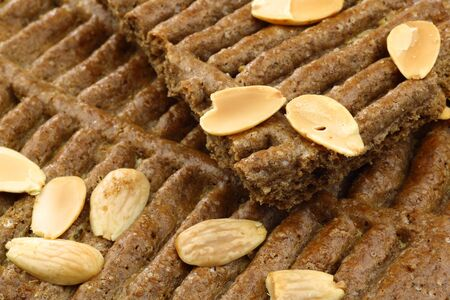speculaas: background of speculaas  traditional pastry from Holland   Stock Photo