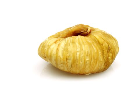 one dried fig on a white background Stock Photo - 15005923