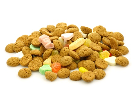 bunch of ginger nuts  pepernoten  and  sinterklaas  candy on a white background  Stock Photo - 15006218