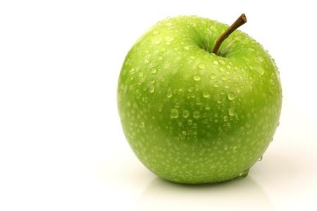 granny smith apple: fresh  Granny Smith   apple on a white background  Stock Photo