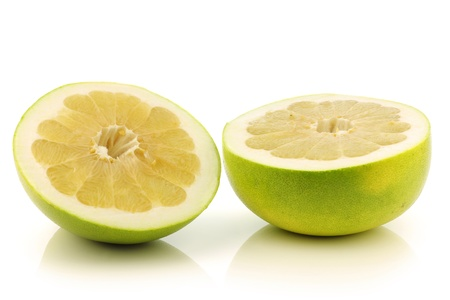 fresh honey pomelo fruit on a white background  photo