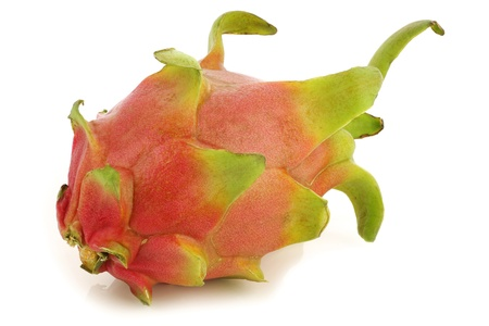 fresh pitaya fruit  Hylocereus undatus  on a white background  photo