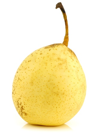 fresh nashi pear on a white background  photo