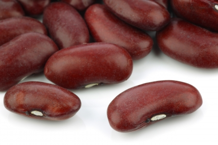 Red beans: đậu đỏ trên nền trắng Kho ảnh