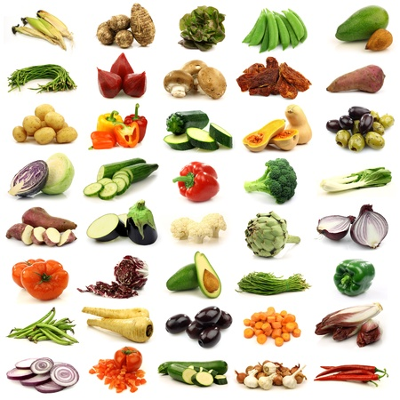 collection of fresh and colorful vegetables  photo