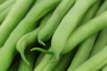 haricot vert: background of small and slender green beans  haricot vert   Stock Photo