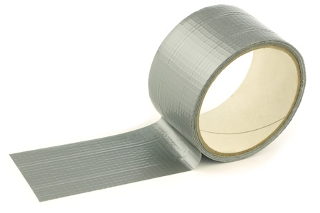 gaffer: Roll of gaffer tape  duct tape  on a white background