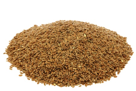 flax seed: Flax seed  linseed  on a white background  Stock Photo