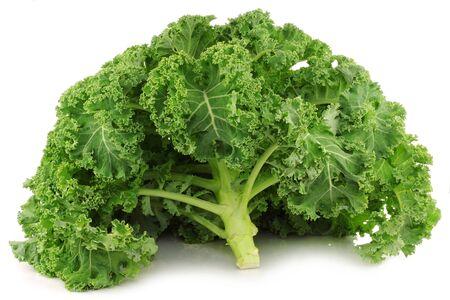 freshly harvested whole kale cabbage on a white background 版權商用圖片 - 15463048