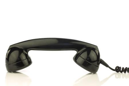 bakelite: vintage bakelite telephone on a white background